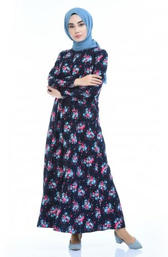فستان أزرق كحلي 2082-01