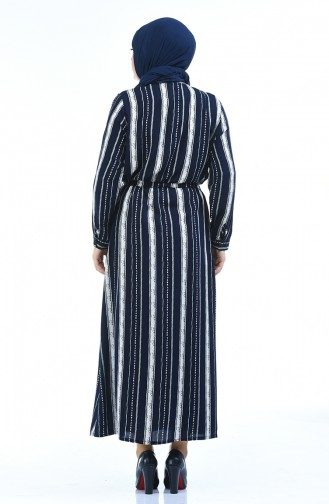فستان أزرق كحلي 7647-01