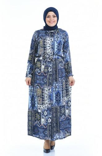 فستان نيلي 7648-01