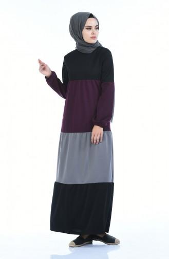 Plum Hijab Dress 4171-01
