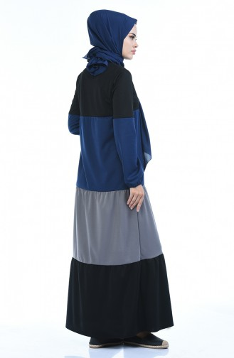 Indigo İslamitische Jurk 4171-03