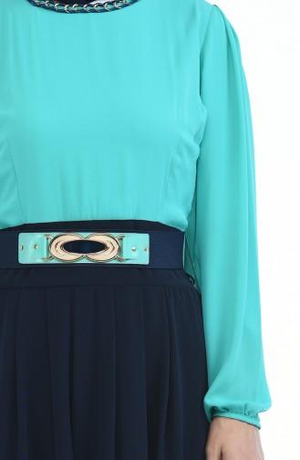 Kleid mit Gürtel 5Y3548200-01 Mandelgrün 5Y3548200-01