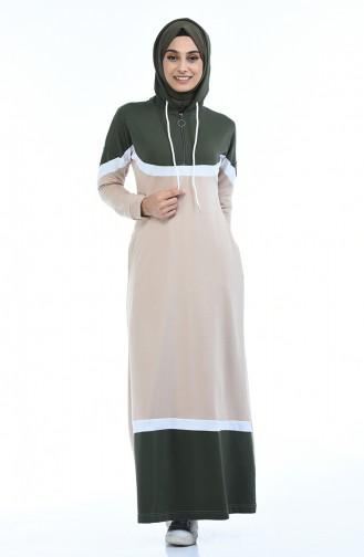 فستان كاكي 4067-03