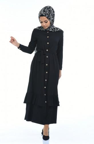 Schwarz Hijap Kleider 5790-07