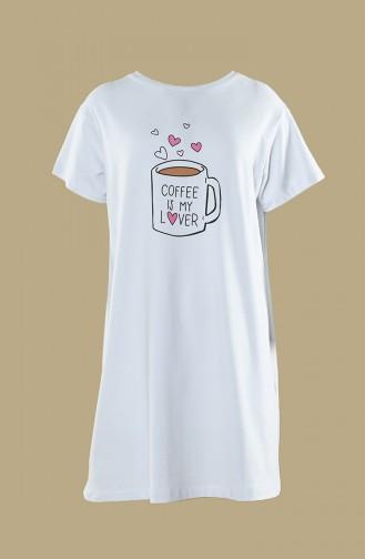 T-shirt Imprimé 0537-01 Blanc 0537-01