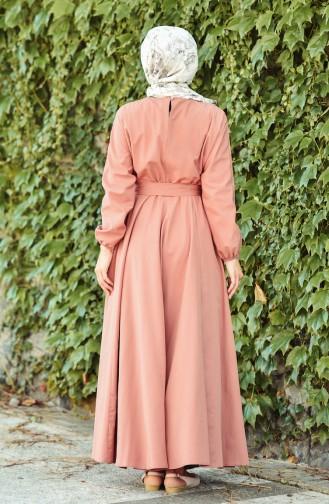 فستان زهري باهت 12011-02