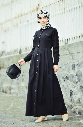 Robe a Boutons 12012-01 Noir 12012-01