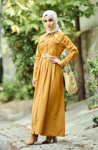 فستان أصفر داكن 12012-07