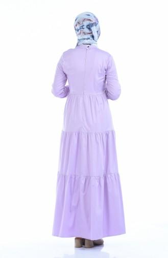 Gerafftes Kleid 4055-02 Lila 4055-02