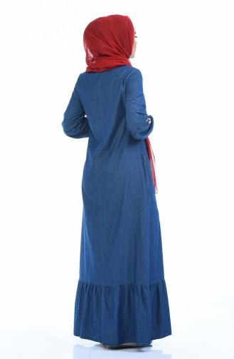 فستان أزرق كحلي 4069-01