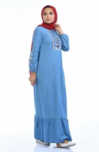 Robe Jean Bordée 4069-02 Bleu Jean 4069-02