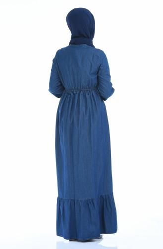 Navy Blue Dress 4074-02