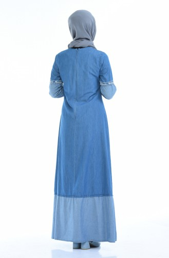 Robe Jean Brodée 4078-01 Bleu Jean 4078-01