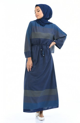 Navy Blue Dress 18147-04