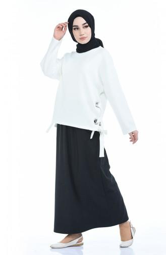 Jupe Taille élastique 1030-02 Fumé 1030-02