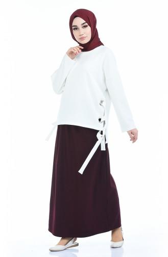 Jupe Taille élastique 1030A-01 Bordeaux 1030A-01