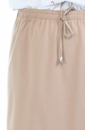 تنورة بني مائل للرمادي 1031A-01