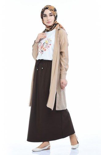 Brown Skirt 1031A-02