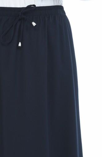 Jupe Taille élastique 1031A-03 Bleu marine 1031A-03