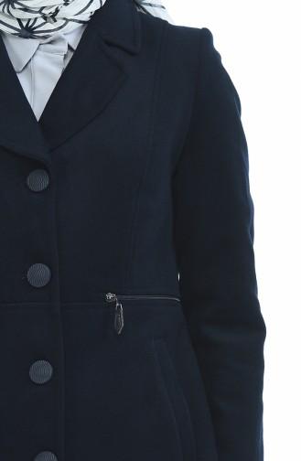 معطف طويل أزرق داكن 1485-01