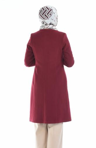 Claret red Long Coat 1486-02