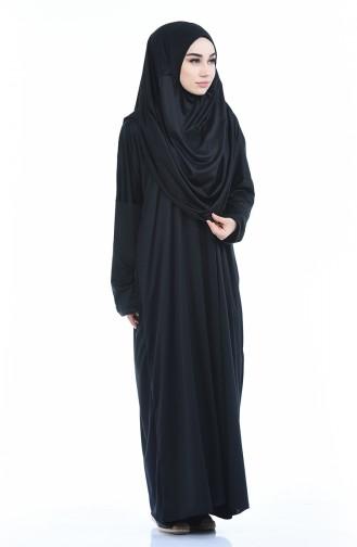 Robe de Prière Pratique 1001-01 Noir 1001-01