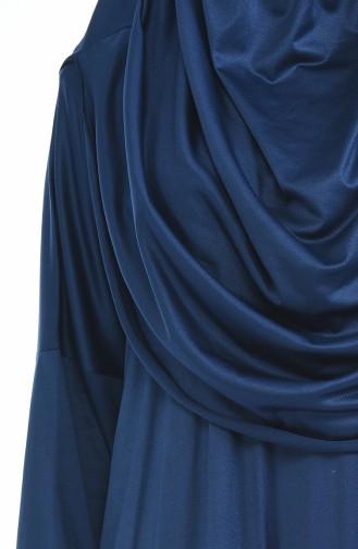 Robe de Prière Pratique 1001-03 Bleu Marine 1001-03