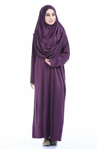 ملابس الصلاة ارجواني داكن 1001B-05
