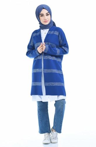 Gilet Tricot a Paillettes 4894-02 Bleu Roi 4894-02