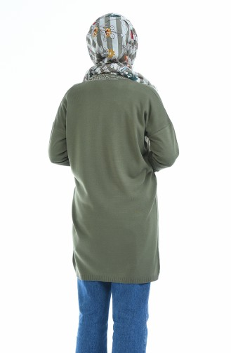 Trikot Spitze-detaillerte Strickjacke 4916-04 Khaki 4916-04