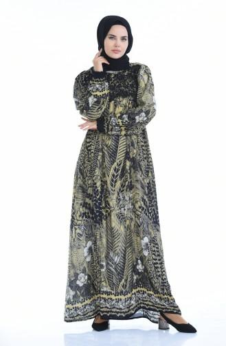 فستان أخضر زيتي 8Y3821000-03
