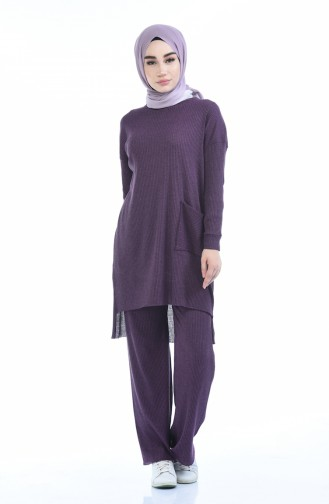 Ensemble Deux Pieces Tunique Pantalon 3314-26 Pourpre 3314-26