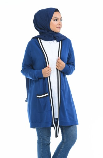 Gilet a Rayures 5010A-02 Bleu Roi 5010A-02