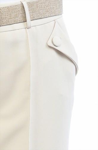 Hose mit Gürtel 1955-03 Beige 1955-03