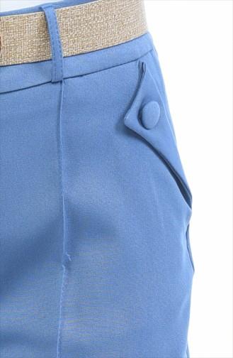 Hose mit Gürtel 1955-04 Blau 1955-04