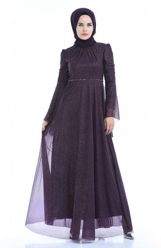 Robe de Soirée a Paillettes 9012-02 Pourpre 9012-02