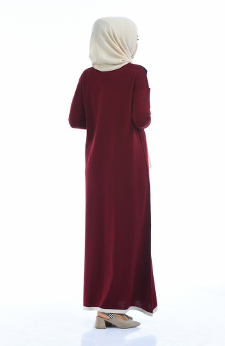 Trikot Kleid 4139-01 Weinrot 4139-01