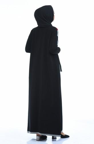 فستان بني مائل للرمادي 4139-02