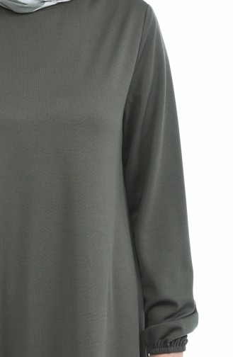 Kleid mit Gummi 8370-12 Hell Khaki 8370-12