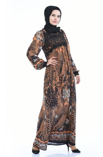 Robe a Motifs 8Y3821000-02 Orange 8Y3821000-02