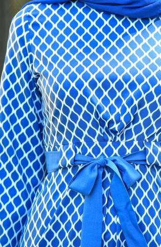 Saks-Blau Hijap Kleider 8004-06