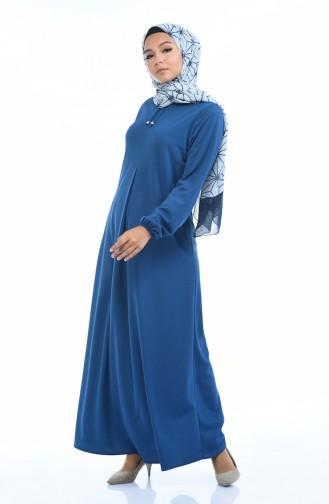 فستان نيلي 8380-09