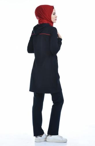 بدلة رياضية بتصميم سحاب 95131-03 لون كحلي 95131-03