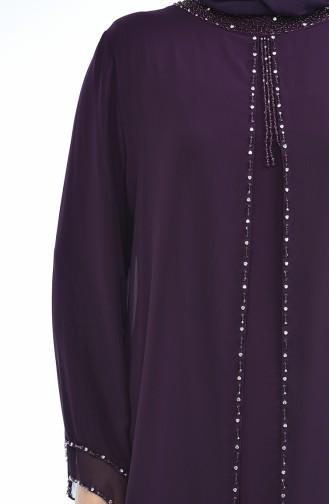 Lila Hijab-Abendkleider 6227-02