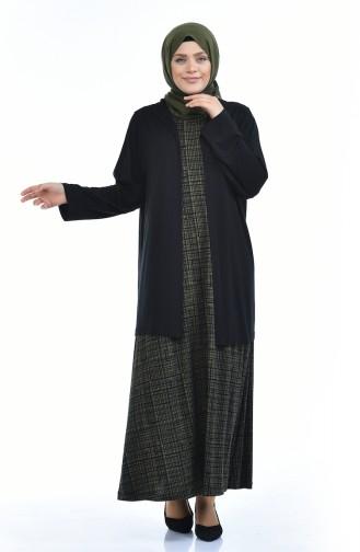 طقم أخضر حشيشي 8372F-03