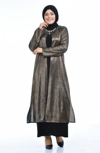 فساتين سهرة بتصميم اسلامي أسود 1070-01