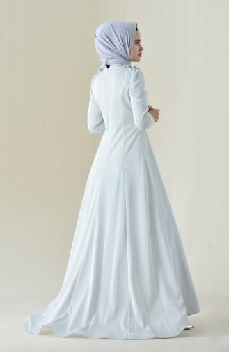 Grau Hijab-Abendkleider 7054-03