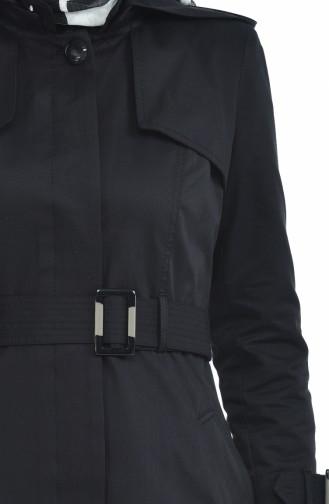 Trench Coat a Capuche 6828-01 Noir 6828-01
