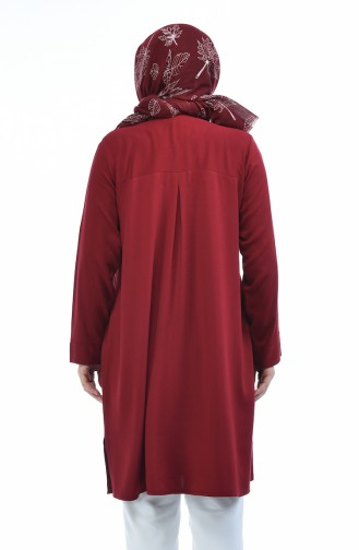 Claret red Tunic 7534-03