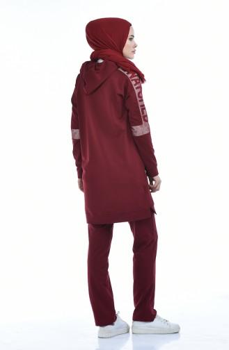 Claret red Trainingspak 7013-03